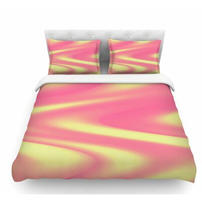 Sherbert Swirl by Sylvia Coomes Featherweight Duvet Cover Size: King