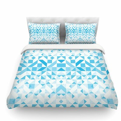 Light Geometric by Vasare Nar Digital Featherweight Duvet Cover Size: Queen