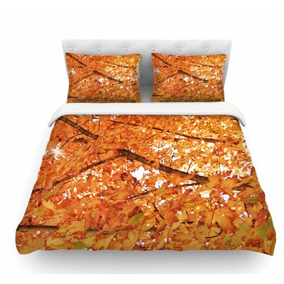 Fall Folioge by Sylvia Coomes Featherweight Duvet Cover Size: King