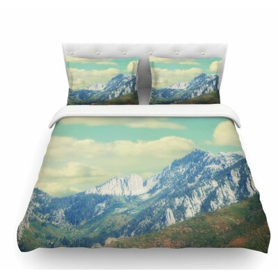 Utah Mountains by Sylvia Coomes Nature Featherweight Duvet Cover Size: Twin