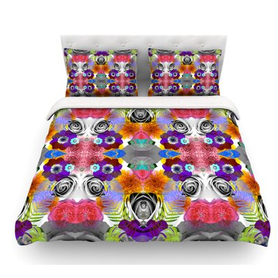 Tropical Flowers by Vasare Nar Featherweight Duvet Cover Size: King