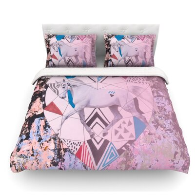 Unicorn by Vasare Nar Featherweight Duvet Cover Size: King