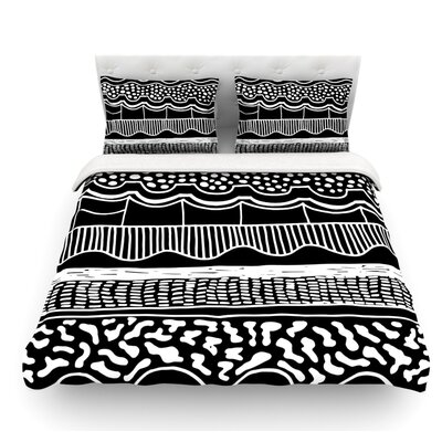 Abiodun Tribal by Vasare Nar Featherweight Duvet Cover Size: King