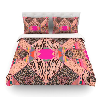 New Wave Zebra by Vasare Nar Featherweight Duvet Cover Size: Queen