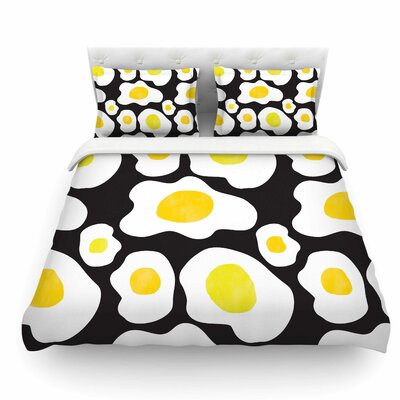 Fried Eggs Pattern by Vasare Nar Pop Art Featherweight Duvet Cover Size: Queen