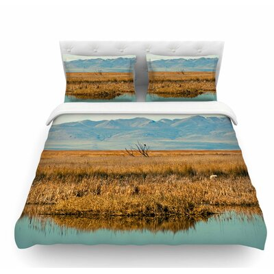 Reflective Landscape by Sylvia Coomes Featherweight Duvet Cover Size: Queen
