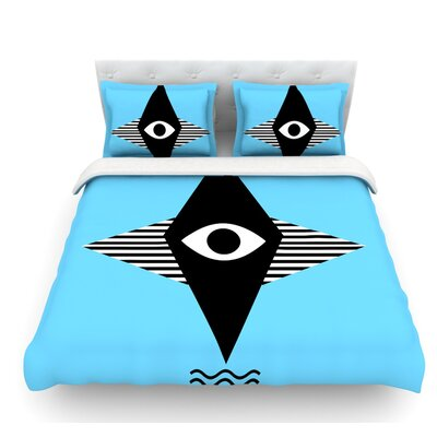 Eye Graphic by Vasare Nar Featherweight Duvet Cover Size: King