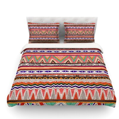 Native Tessellation by Vasare Nar Featherweight Duvet Cover Size: Queen