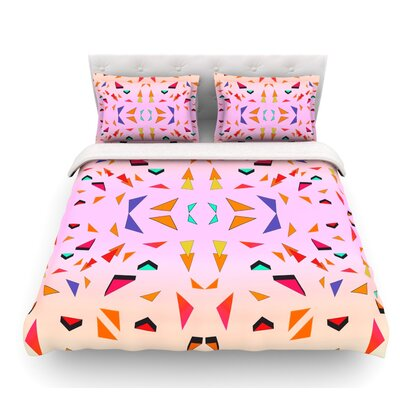 Candy Land Tropical by Vasare Nar Geometric Featherweight Duvet Cover Size: King