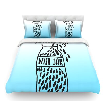 Unicorn Wish Jar by Vasare Nar Featherweight Duvet Cover Size: Queen