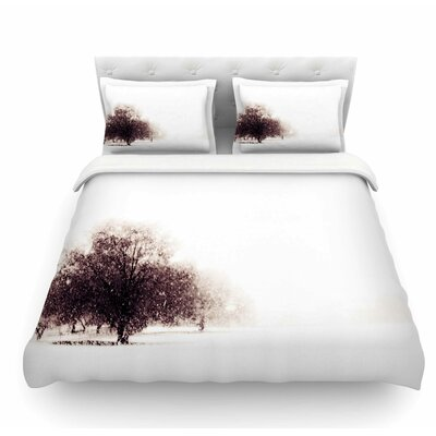 Winter Landscape by Sylvia Coomes Featherweight Duvet Cover Size: King