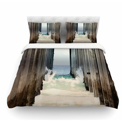 Under the Pier by Sylvia Coomes Featherweight Duvet Cover Size: Queen