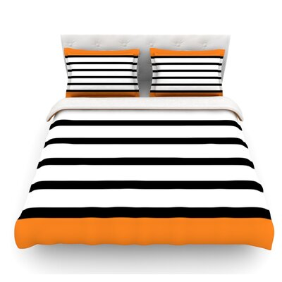 Sest Redaka by Trebam Featherweight Duvet Cover Size: Queen, Color: Orange/Tangerine