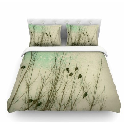 Braving the Cold by Sylvia Coomes Featherweight Duvet Cover Size: Queen