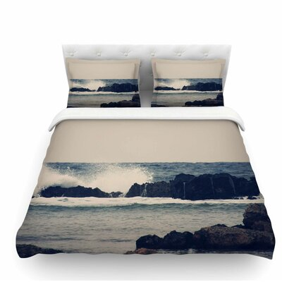 Ocean 2 by Sylvia Coomes Coastal Featherweight Duvet Cover Size: King