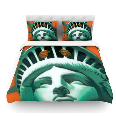 Civil Liberties by Thomas Fuchs Featherweight Duvet Cover Size: Queen