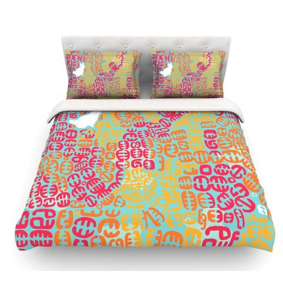 Oliver by Theresa Giolzetti Featherweight Duvet Cover Size: King, Color: Orange