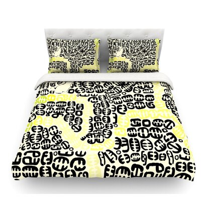 Oliver by Theresa Giolzetti Featherweight Duvet Cover Size: Twin, Color: Yellow