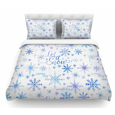 Let it Snow Winter Pattern by Noonday Design Featherweight Duvet Cover Size: King