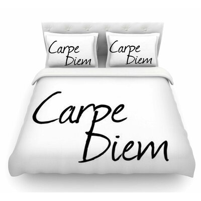 Carpe Diem by Oriana Cordero Featherweight Duvet Cover Size: Twin