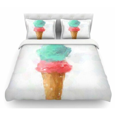 Cotton Candy and Raspberry by Oriana Cordero Featherweight Duvet Cover Size: Twin