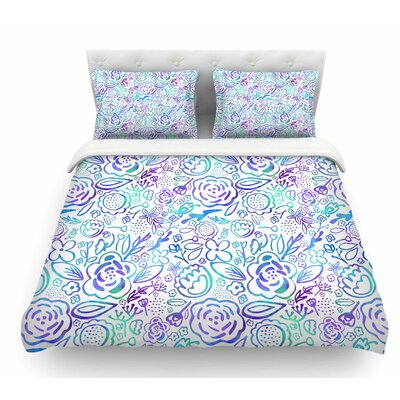 Floral Explosion by Noonday Design Floral Featherweight Duvet Cover Size: Twin