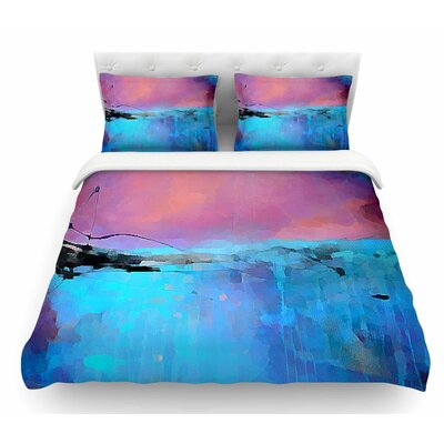 Versailles Abstract by Oriana Cordero Featherweight Duvet Cover Size: Twin