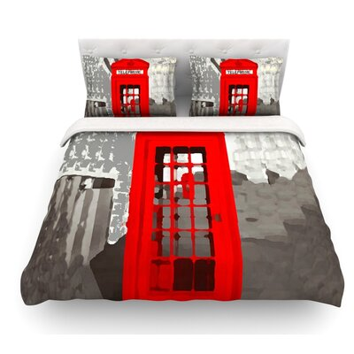 London by Oriana Cordero Featherweight Duvet Cover Size: Queen