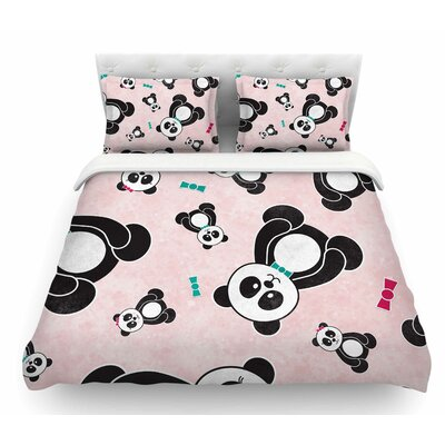 Panda Freefall by Noonday Design Featherweight Duvet Cover Size: King