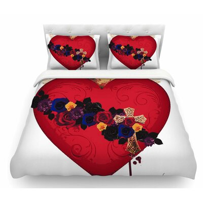 Sacred Heart for Frida by Oriana Cordero Featherweight Duvet Cover Size: Twin
