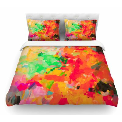 La Rochelle-Abstract by Oriana Cordero Featherweight Duvet Cover Size: Queen