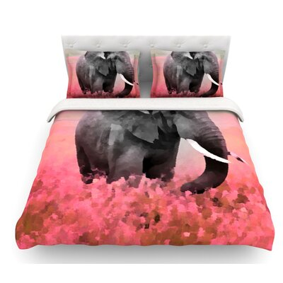 Ele-Phant by Oriana Cordero Featherweight Duvet Cover Size: King
