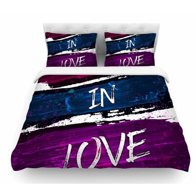 Crazy in Love by Noonday Design Featherweight Duvet Cover Size: Queen