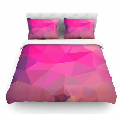 Poly Sunrise by Oriana Cordero Featherweight Duvet Cover Size: King