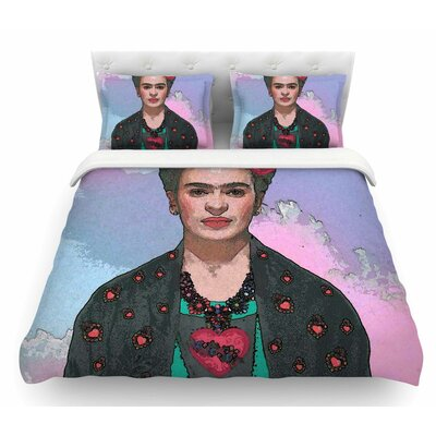Trendy Frida Kahlo Ferwell by Oriana Cordero Featherweight Duvet Cover Size: Queen