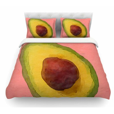 Avocado for Lola by Oriana Cordero Featherweight Duvet Cover Size: Twin