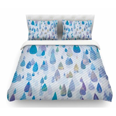 Rain Storm by Noonday Design Digital Featherweight Duvet Cover Size: King