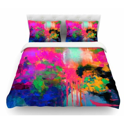 Montesilvano-Abstract by Oriana Cordero Rainbow Featherweight Duvet Cover Size: King