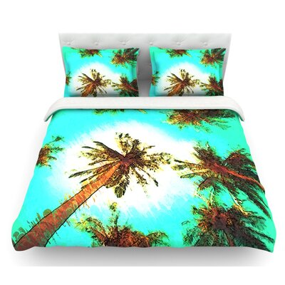 Paradise by Oriana Cordero Trees Featherweight Duvet Cover Size: King