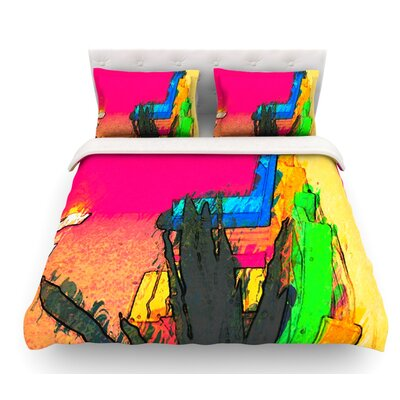 Days of Summer by Oriana Cordero Rainbow Abstract Featherweight Duvet Cover Size: Queen
