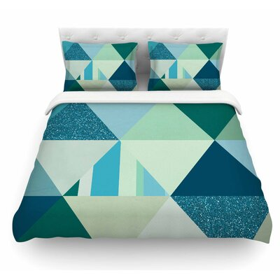 The Triangle by Noonday Design Geometric Featherweight Duvet Cover Size: Twin