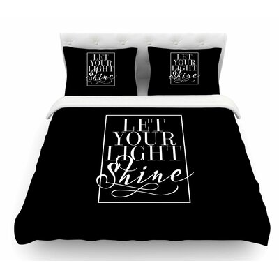 Let Your Light Shine by Noonday Design Featherweight Duvet Cover Size: King