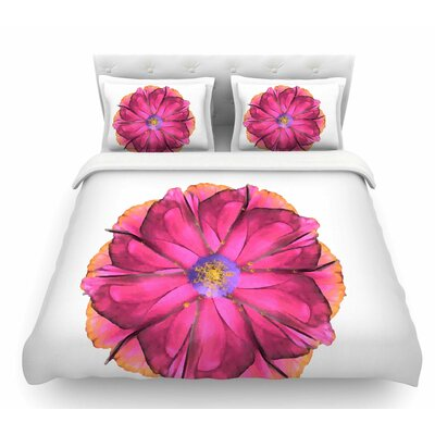 Athena Flower by Oriana Cordero Featherweight Duvet Cover Size: Queen