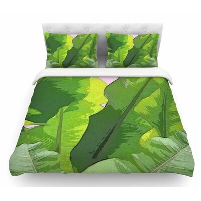 Banana Tropics by Oriana Cordero Featherweight Duvet Cover Size: Queen
