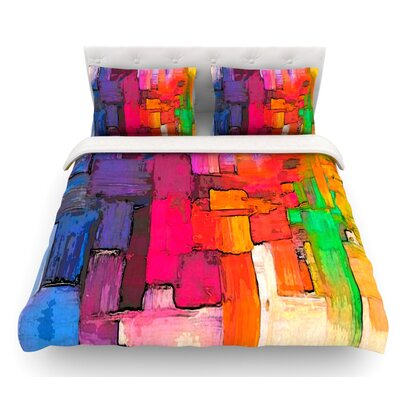 Interlace by Oriana Cordero Featherweight Duvet Cover Size: Queen