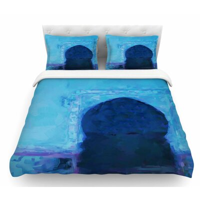 Chefchaouen City by Oriana Cordero Featherweight Duvet Cover Size: Twin