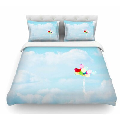 Balloons in the Sky by Sylvia Coomes Kids Featherweight Duvet Cover Size: Queen
