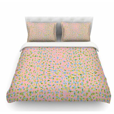 Peach Lepoard by Vasare Nar Pastel Featherweight Duvet Cover Size: King