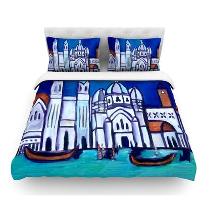 Venice by Theresa Giolzetti Featherweight Duvet Cover Size: King