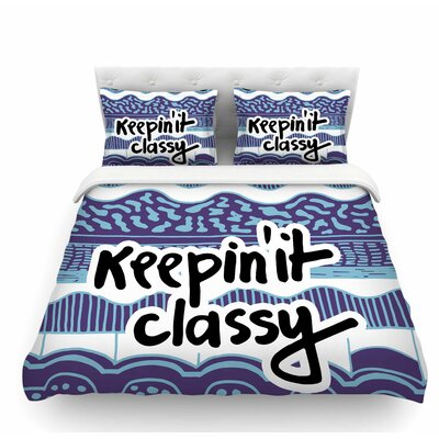 Keepin it Classy Purple by Vasare Nar Featherweight Duvet Cover Size: King